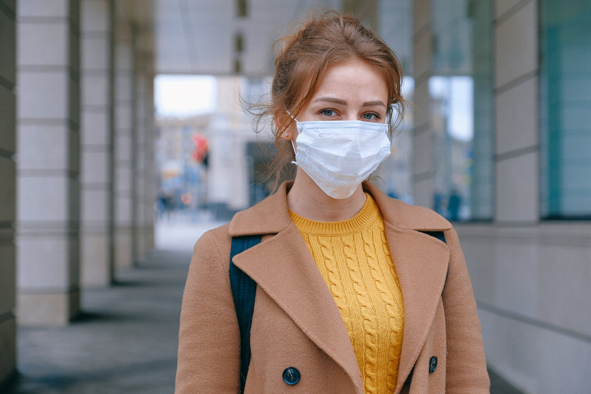 woman wearing face mask
