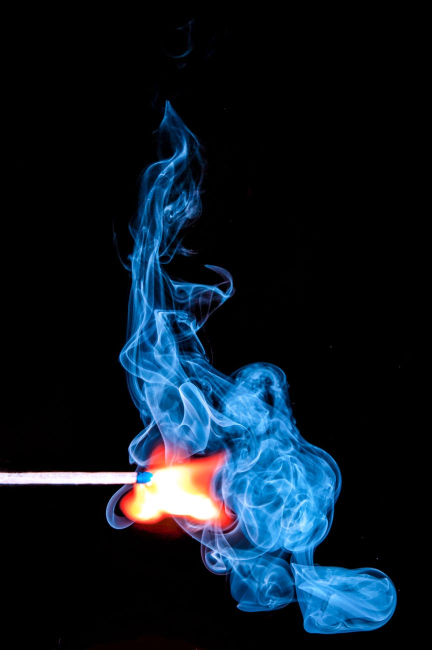 fire match smoke flame